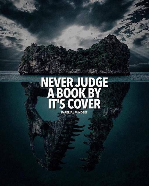 Cook Book Cover Quotes : Positive quotes never judge a book by its cover