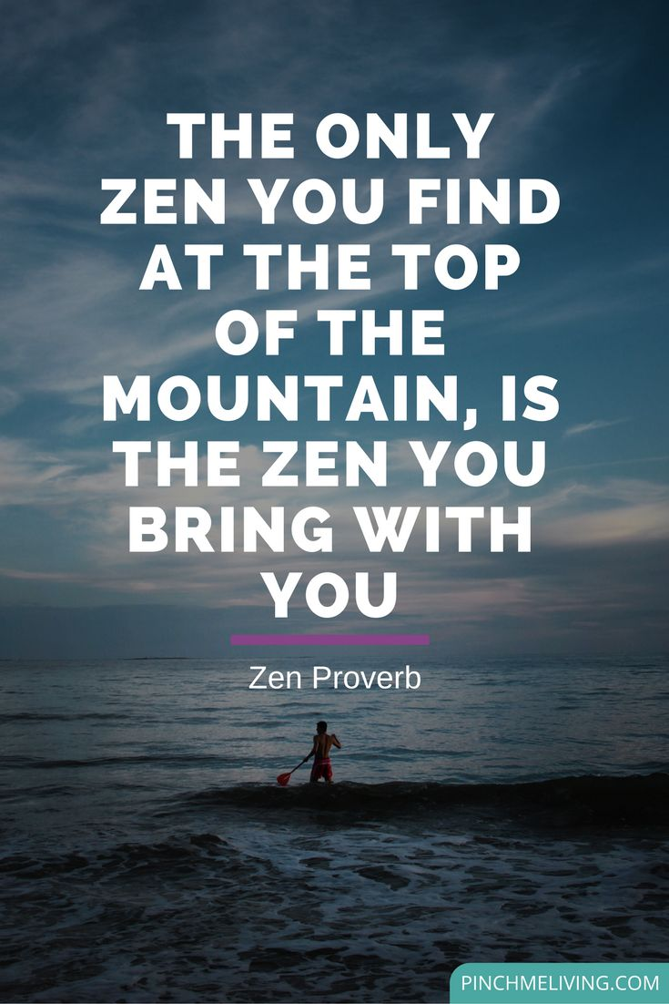"Quotes Zen Best Positive Quotes  Quote  ""The Only Zen You Find At The Top"