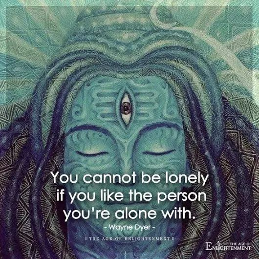 Best Positive Quotes You Cant Be Lonely If You Like The Person