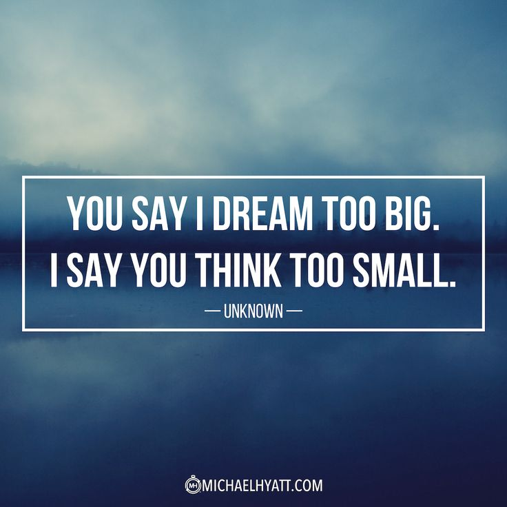 "Life Quotes Unknown Entrancing Business Quotes  ""You Say I Dream Too Bigi Say You Think Too"