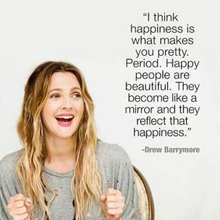 Famous Celebrity Quotes Drew Barrymore Quote Happiness Makes You