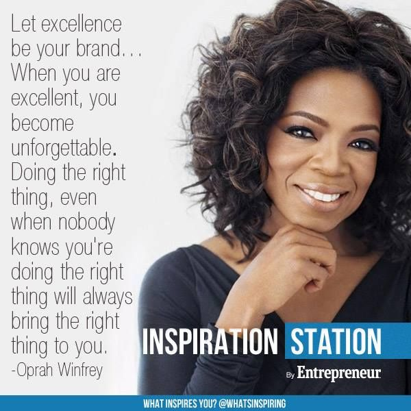 Famous Celebrity Quotes Let Excellence Be Your Brand Doing The