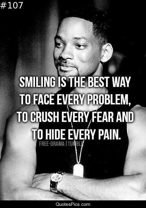 Famous Celebrity Quotes Smiling Is The Best Way To Face Problems