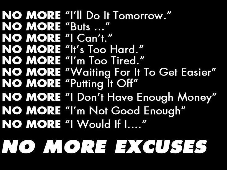 Excuses Quotes Best Fitness Quotes  Fitness Inspiration  No More Excuses Fitness