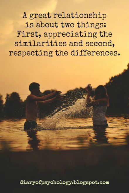 Love Quotes Appreciate The Similarities Respect The Differences
