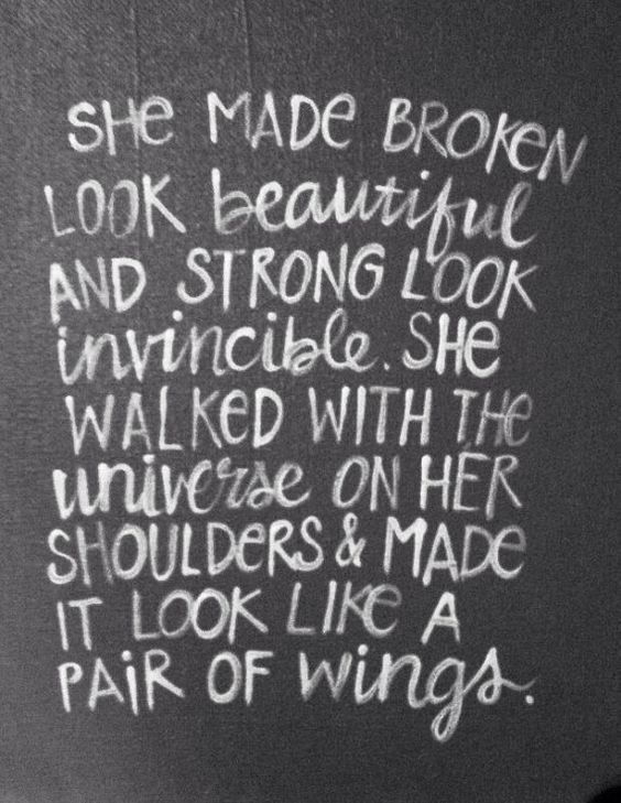 Love Quotes Lovely Quote About Strength She Made Broken Look