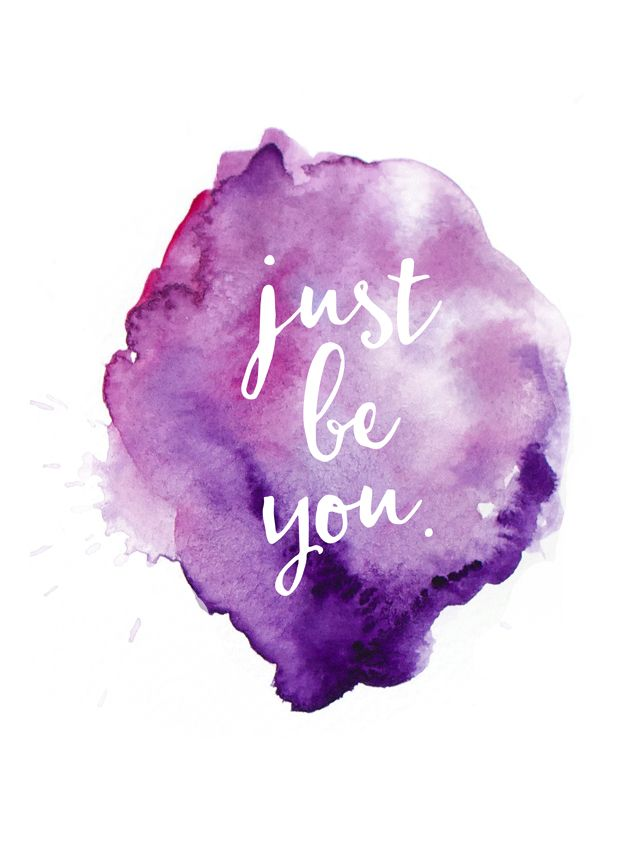 Purple Quotes Custom Positive Quotes  Justbeyouwatercolor 640×850 Quotes