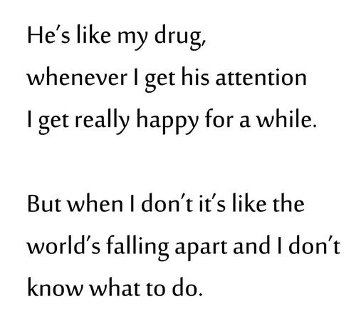 Drug Quotes Glamorous Quotes About Ex  Broken Crush Drug Falling He Love Quotes