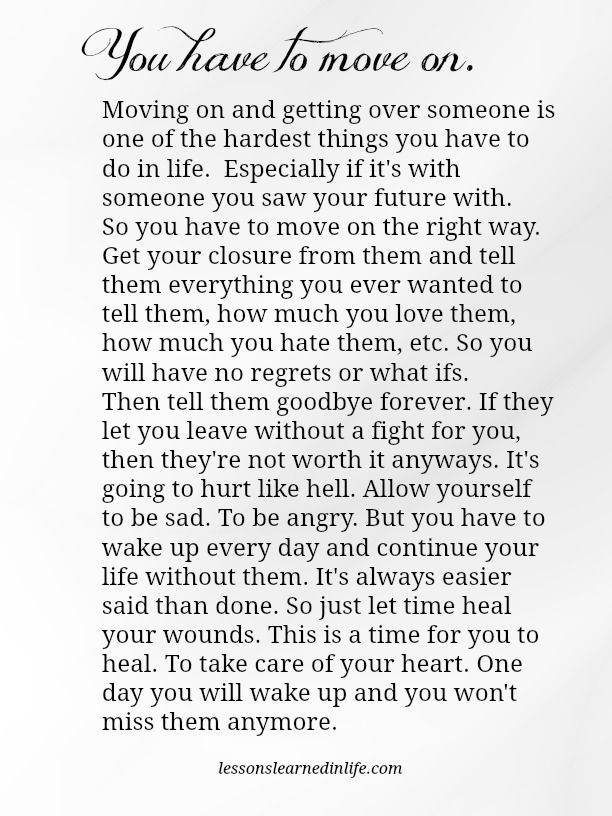 Quotes About Ex Lessons Learned In Life You Have To Move On