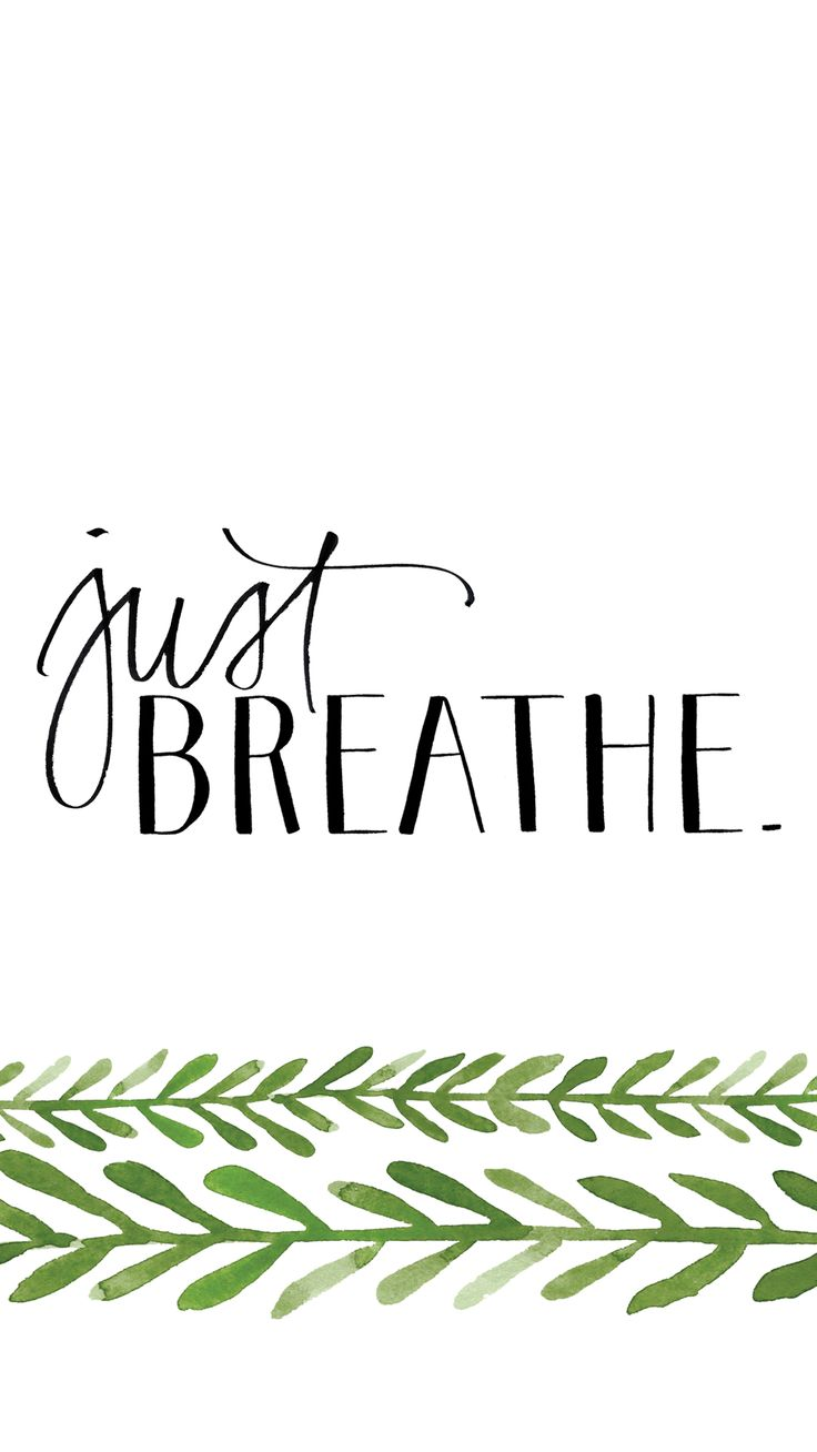 Best Positive Quotes Minimal Black White Green Breathe Iphone