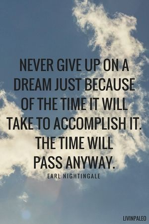 Best Positive Quotes Never Give Up On A Dream Just Because Of The