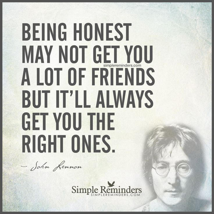 Famous Celebrity Quotes Being Honest May Not Get You A Lot Of
