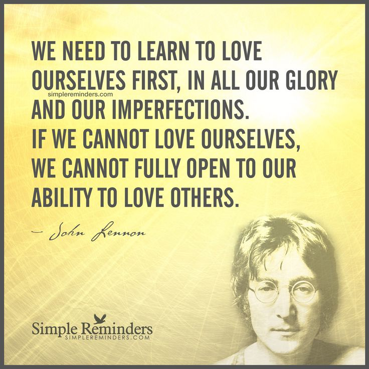 description learn to love yourself first by john lennon