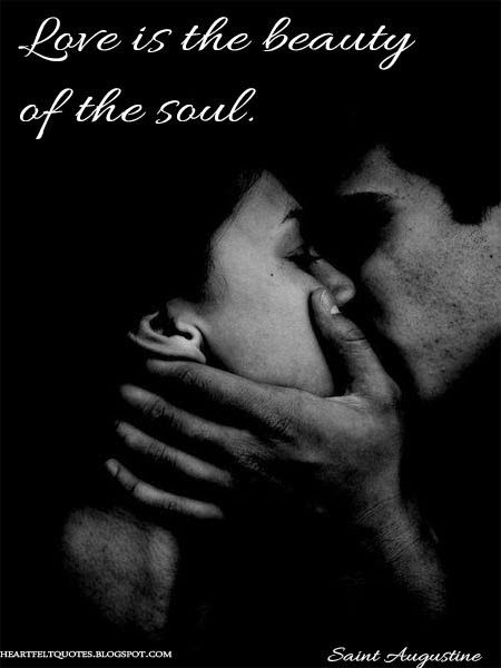 Love Quotes Love Is The Beauty Of The Soul Saint Augustine