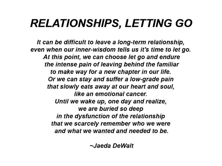 Moving on from a long term relationship