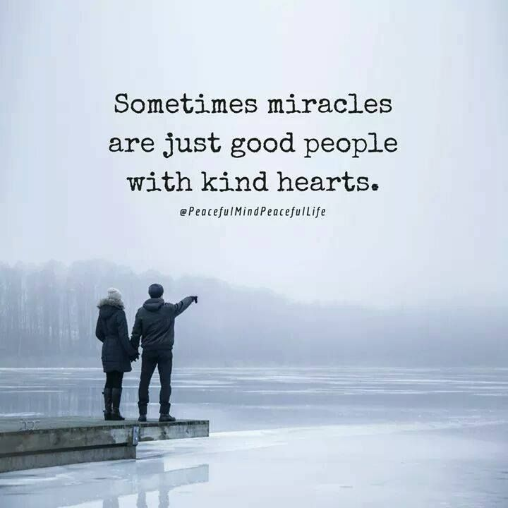 Positive People Quotes Impressive Positive Quotes  Sometimes Miracles Are Just Good People With