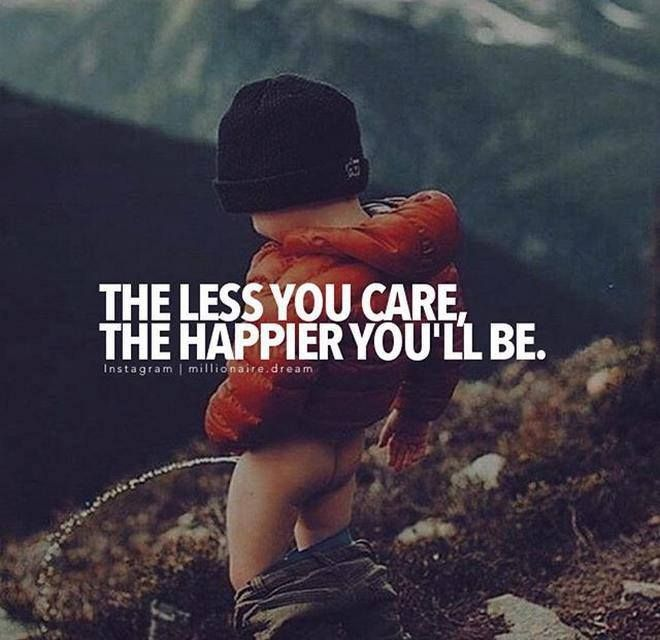 Positive Quotes The Less You Care Quotes Boxes You Number