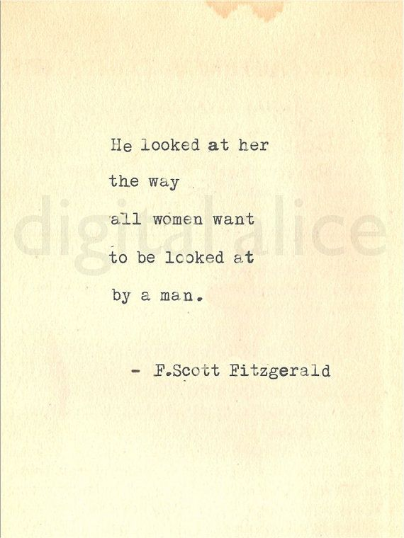 F Scott Fitzgerald Love Quote Best Soulmate Quotes  Vintage Typewriter Print F Scott Fitzgerald