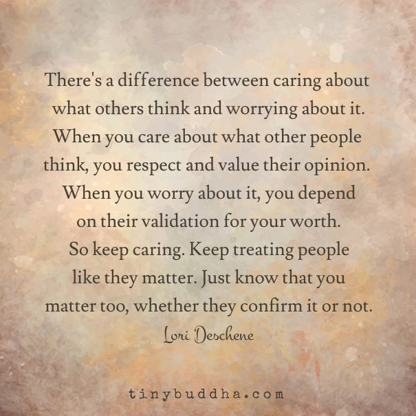 Best Positive Quotes Theres A Difference Between Caring About