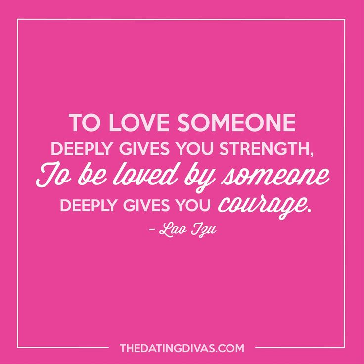 To be loved by someone