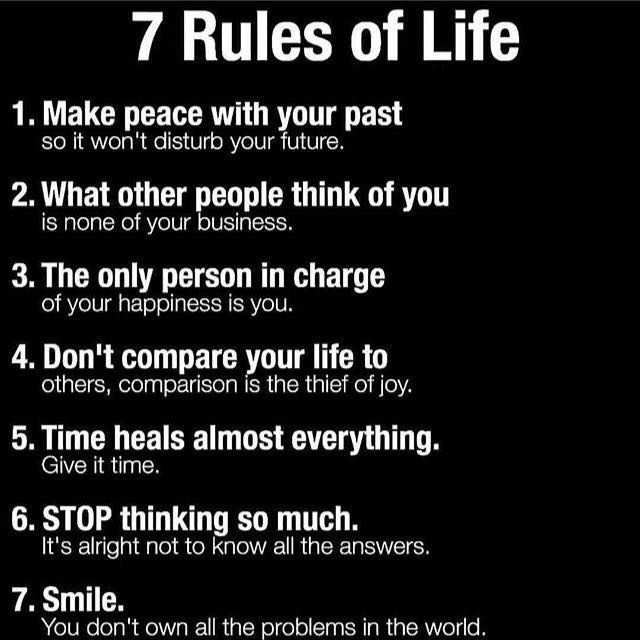 Inspirational Quotes On Life: Positive Quotes : 7 Rules Of Life.. - Quotes Boxes