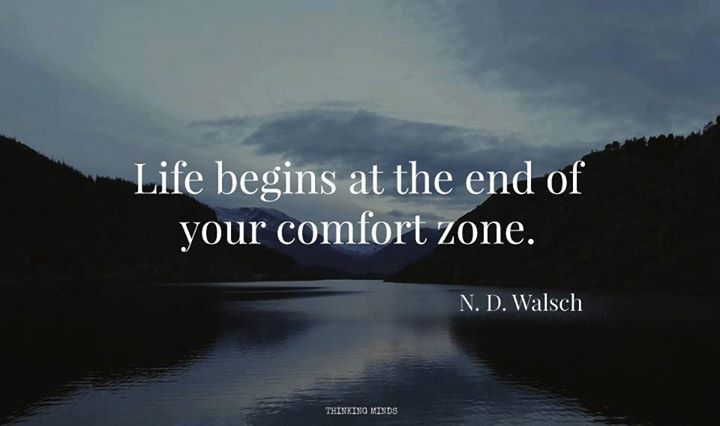 Positive Quotes : Life Begins At The End Of Your Comfort