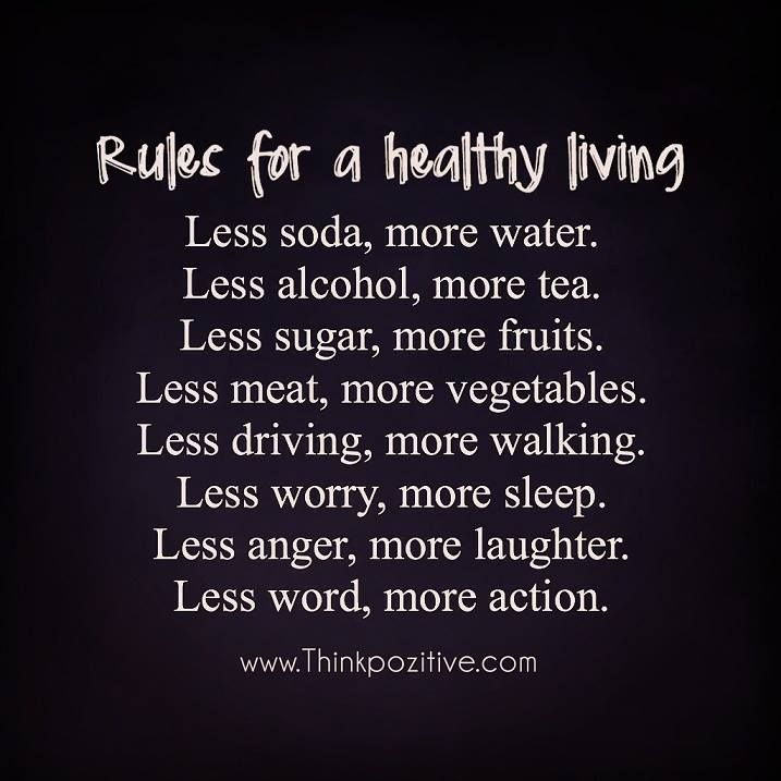 Positive Quotes Rules For A Healthy Living Quotes Boxes You Extraordinary Healthy Living Quotes