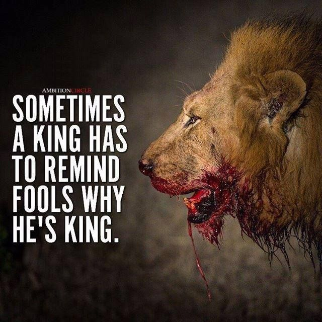 Positive Quotes Sometimes A King Has To Remind Fools Why Hes King
