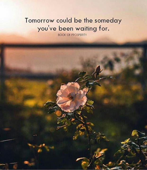 Positive Quotes Tomorrow Could Be The Someday Youve Been Waiting For