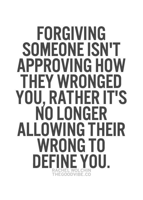 Forgiving your ex