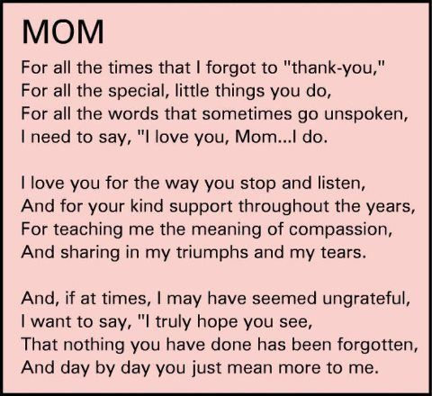 17 Best Thank You Mom Quotes On Pinterest Love Mom Quotes 37216
