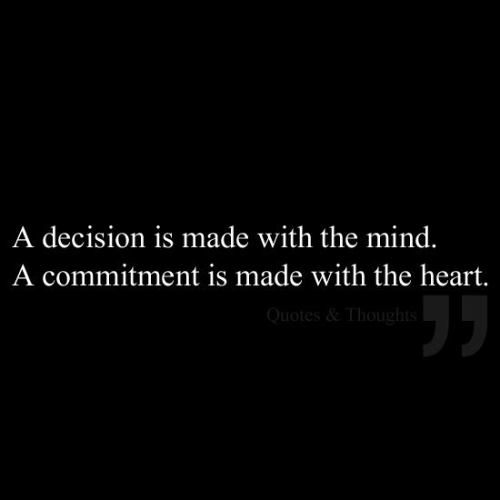 Best Positive Quotes A Decision Is Made With The Mind A