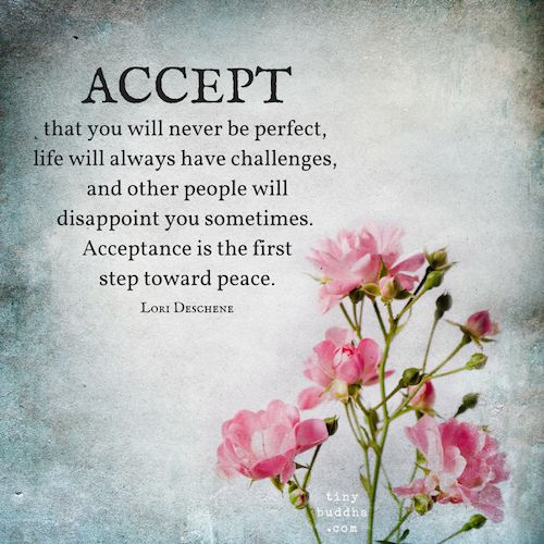 Acceptance Quotes Endearing Best Positive Quotes  Acceptance Is The First Step Toward Peace