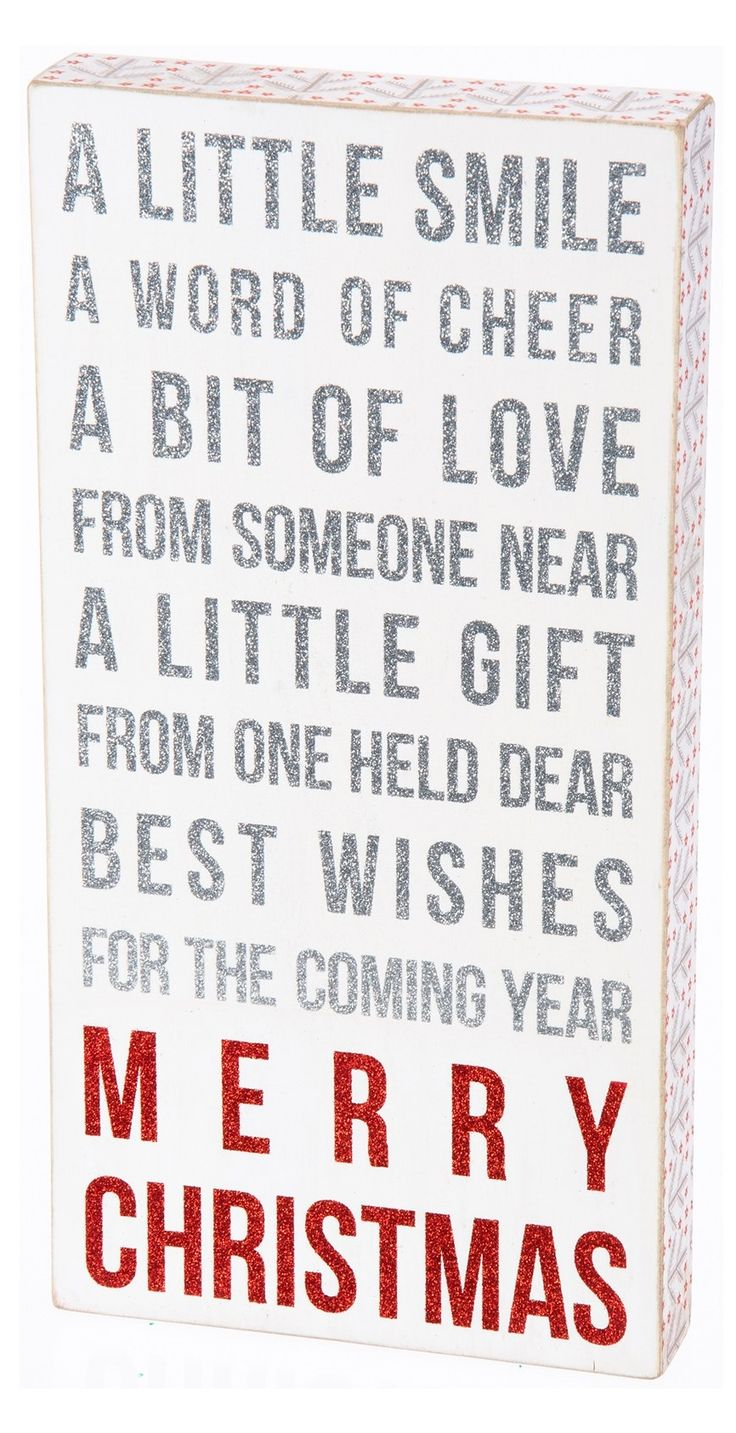 Christmas Quotes A Little Smile A Word Of Cheer A Bit Of Love From