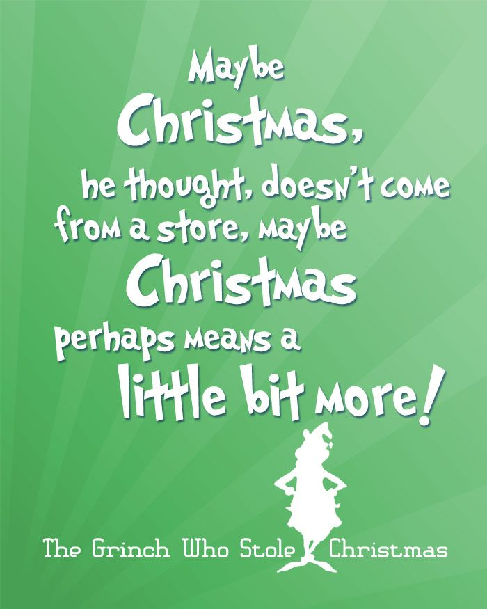 description free christmas printables with favorite movie quotes another free printable for christmas quote from how the grinch stole christmas - Quotes From How The Grinch Stole Christmas