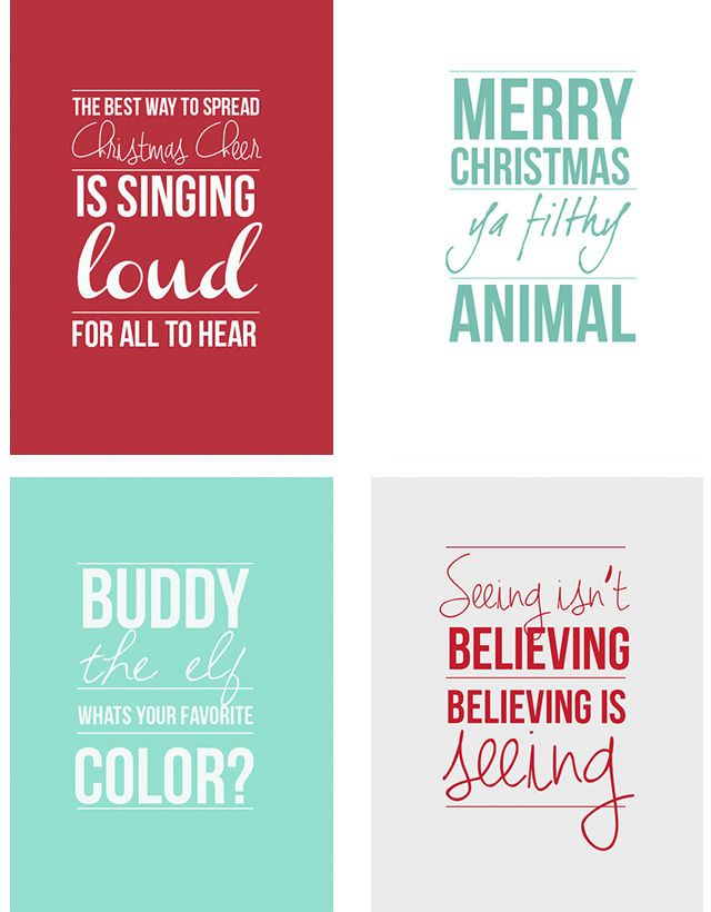Christmas Quotes Holiday Movie Quotes I Will Be Printing