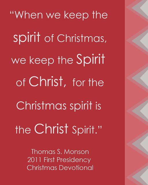 Description. LDS Christmas Quote ...