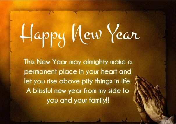 Happy New Year Words & Quotes : Christian New Year Greetings Bible ...