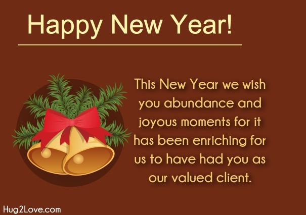 Happy New Year Words Quotes New Year Wishes For Business Client