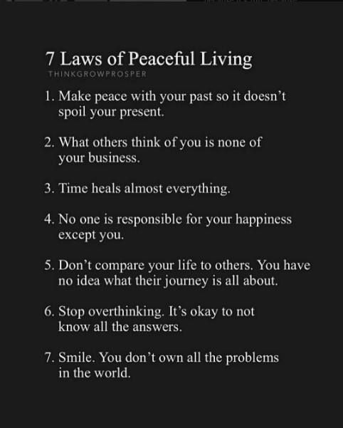 Inspirational Quotes On Life: Positive Quotes : 7 Laws Of Peaceful Life..