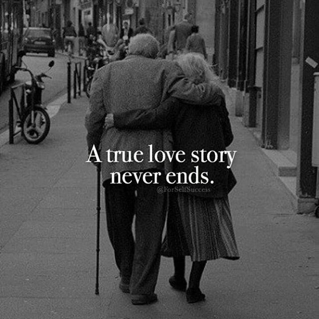A True Love Story Never Ends Quote: Positive Quotes : A True Love Story Never Ends