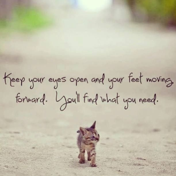 Positive Quotes On Moving Forward: Positive Quotes : Keep Your Eyes Open And Your Feet Moving