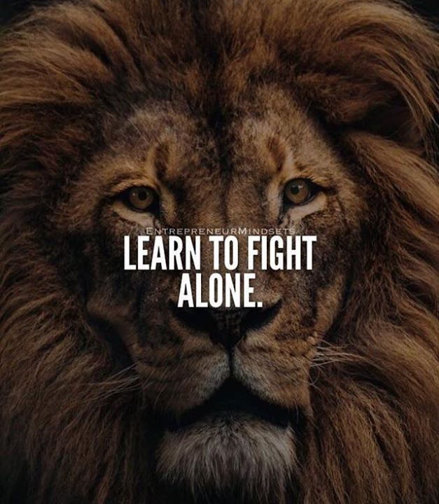 Positive Quotes Learn To Fight Alone Quotes Boxes You Number
