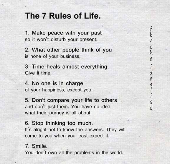 7 Rules Of Life Quote Beauteous Positive Quotes The 7 Rules Of Life Quotes  Boxes You