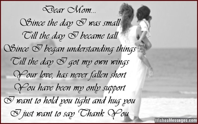 Thank You Poems For Mom Wishesmessages 521816