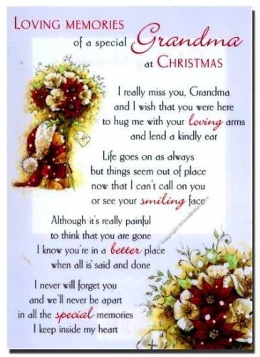 Christmas Quotes Missing Grandma At Christmas Time Miss You Family