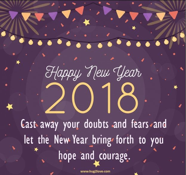 as the quote says description best new year 2018 messages short