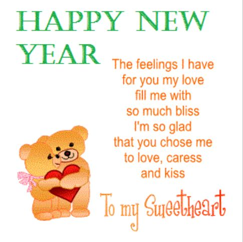 Happy New Year Words & Quotes : Cute Love Poems for Her New Year ...