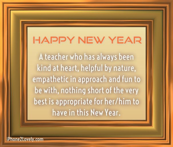 as the quote says description happy new year messages for teacher