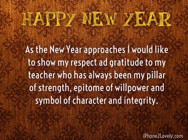 happy new year words